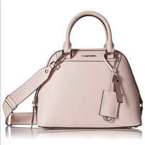 Calvin Klein Clara Stucco Leather dome satchel